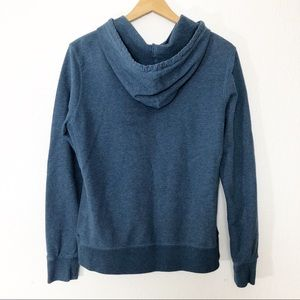 Lucky Brand Tops - Lucky Brand hoodie blue embroidered full zip L
